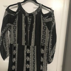 Long sleeve cold shoulder tunic
